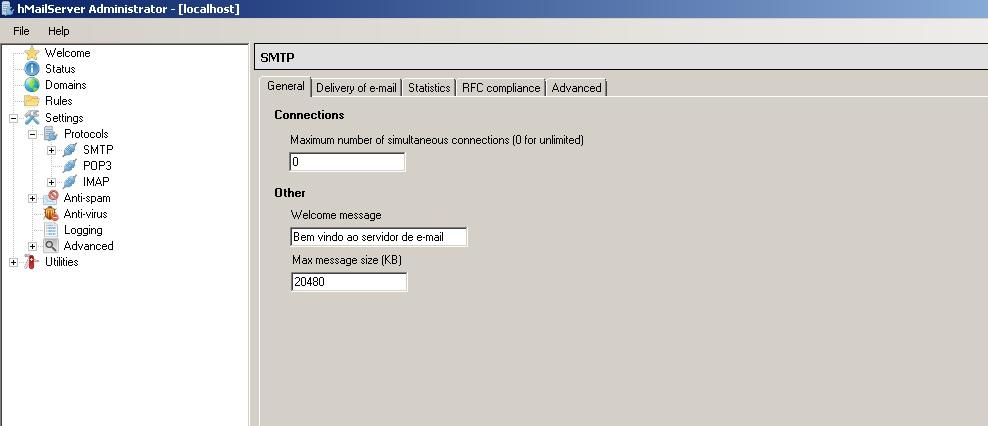 Configurando HmailServer
