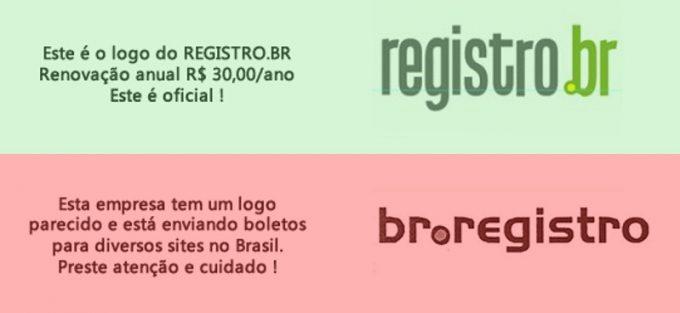 Fraude boletos Registro.br